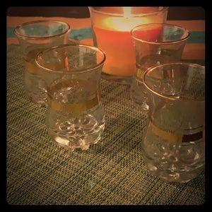 Set of four cocktails glasses